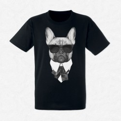 T-Shirt Homme Noir French Bulldog