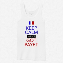 Débardeur Homme Blanc Keep calm we've got Payet