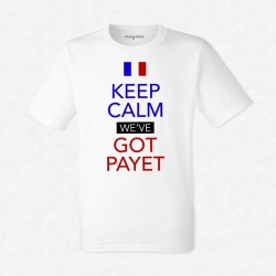 T-Shirt Homme Blanc Foot Keep calm we've got Payet