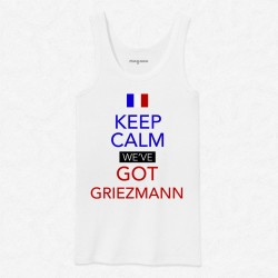 Débardeur Homme Blanc Foot Keep calm we've got Griezmann