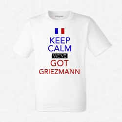 T-Shirt Homme Blanc Foot Keep calm we've got Griezmann