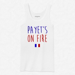 Débardeur Homme Blanc Foot Payet's on fire