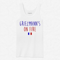 Débardeur Homme Blanc Foot Griezmann's on fire