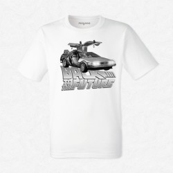 T-Shirt Homme Blanc Back to the future
