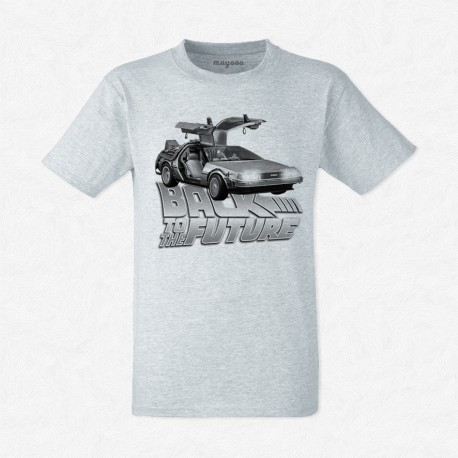 T-Shirt Homme Gris Back to the future
