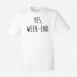 T-Shirt Homme Blanc Yes week-end