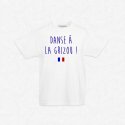 T-Shirt Enfant Blanc Foot Danse à la Grizou