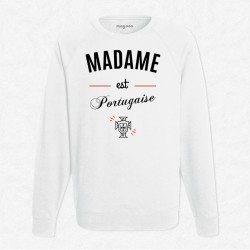 Sweat Blanc Foot Madame est portugaise
