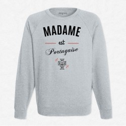 Sweat Gris Foot Madame est portugaise