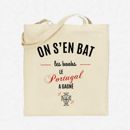 Tote Bag Foot On s'en bat les boobs le Portugal a gagné