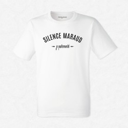 T-Shirt Homme Blanc Silence maraud, je parlemente !