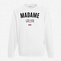 Sweat Blanc Foot Madame Grizou