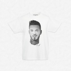 T-Shirt Enfant Blanc Matt Pokora by Mathieu Larquet