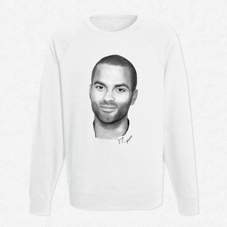 Sweat Blanc Tony Parker by Mathieu Larquet
