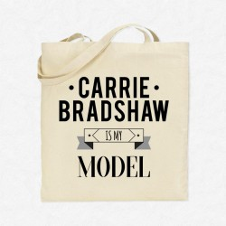 Tote Bag Carrie Bradshaw is my model