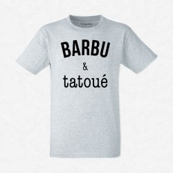 T-Shirt Homme Gris Barbu & tatoué