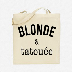 Tote Bag Blonde & tatouée