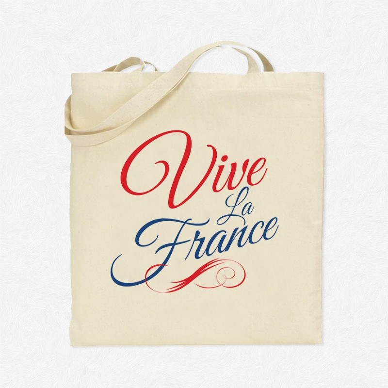tote bag vive la france mayooo t shirts et accesoires cool pour gens cool. Black Bedroom Furniture Sets. Home Design Ideas