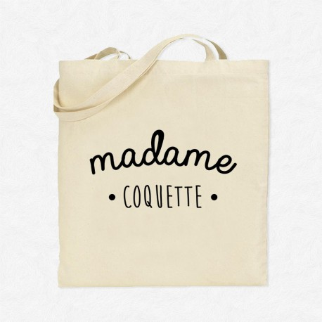 Tote bag madame coquette mayooo t shirts et accesoires cool pour gens cool - Madame coquette ...