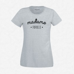 T-Shirt Femme Gris Madame Fofolle