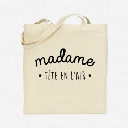 Tote Bag Madame Tête en l'air