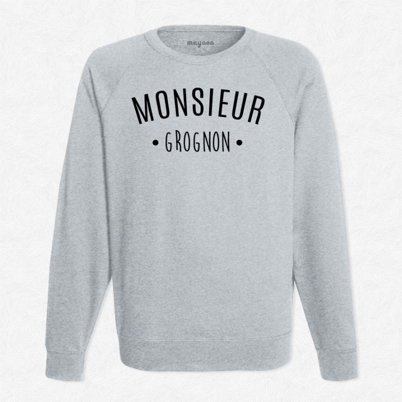 Sweat gris monsieur grognon mayooo t shirts et - Monsieur grognon ...