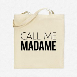 Tote Bag Call me Madame