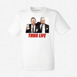 T-Shirt Homme Blanc Thug Life Breaking Bad