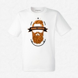 T-Shirt Homme Blanc Barbe rousse