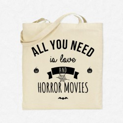 Tote Bag All you need is love and horror movies
