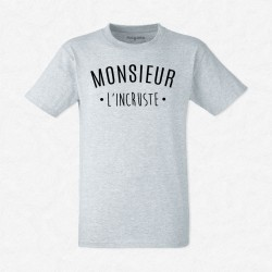 T-Shirt Homme Gris Monsieur L'incruste