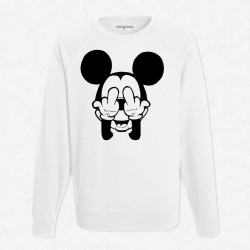 Sweat Blanc Mickey F**K