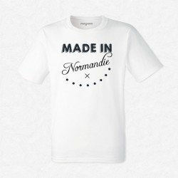 T-Shirt Homme Blanc Made in Normandie