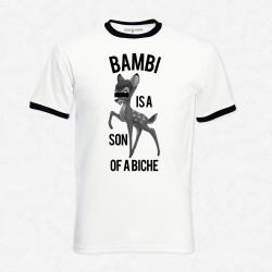 T-Shirt Ringer Homme Bambi is a son a biche
