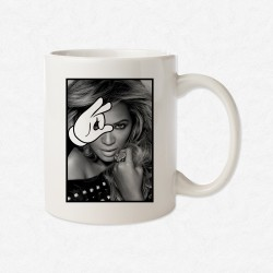 MUG Blanc Magic Hand Beyoncé