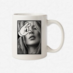 MUG Blanc Magic Hand Kate Moss