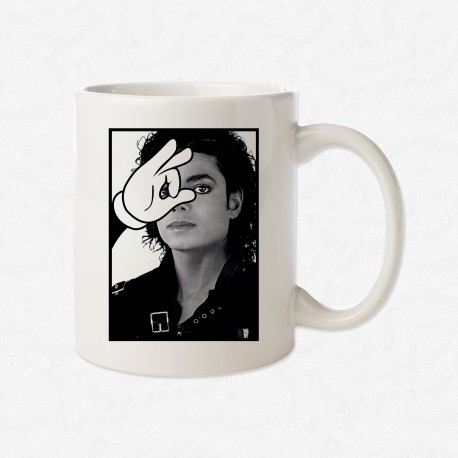 MUG Blanc Magic Hand Michael Jackson