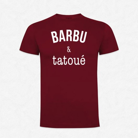 T-Shirt Homme Bordeaux Barbu & tatoué