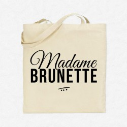 Tote Bag Madame brunette