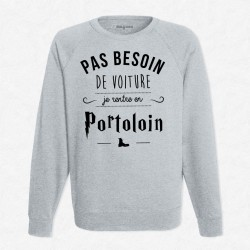 Sweat Gris Je rentre en Portoloin