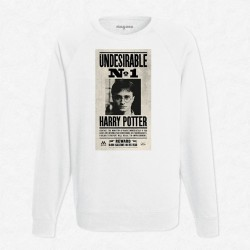 Sweat Blanc Undesirable N°1 Harry Potter