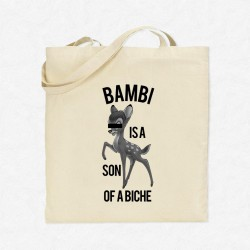 Tote Bag Bambi is a son a biche