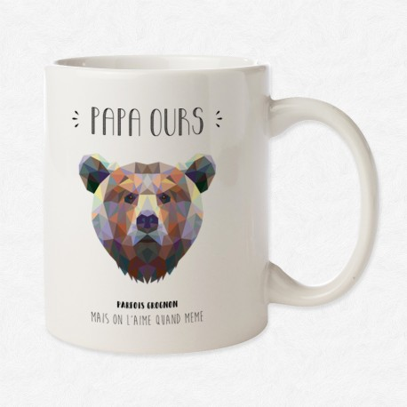 mug papa ours mayooo t shirts et accesoires cool pour. Black Bedroom Furniture Sets. Home Design Ideas