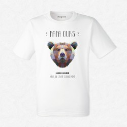 T-Shirt Homme Blanc Papa Ours