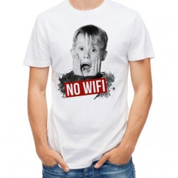 T-Shirt Homme Blanc No Wifi