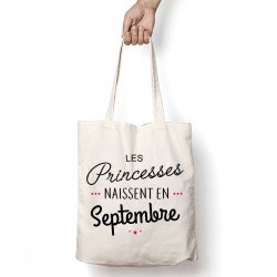 Tote Bag Les princesses naissent en Septembre