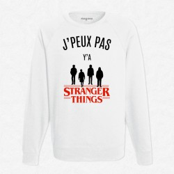 Sweat Blanc J'peux pas y'a Stranger Things