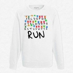 Sweat Blanc Stranger Things RUN