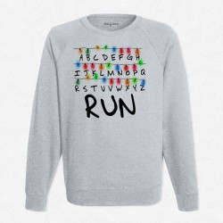 Sweat Gris Stranger Things RUN