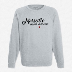 Sweat Gris Marseille mon amour